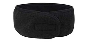 Luxe Black Towelling Headband